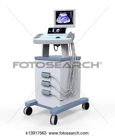 Drawing of Medical Ultrasound Diagnostic Machi k13917563.