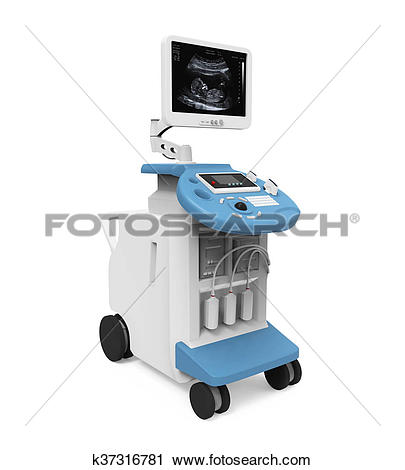 Clipart of Medical Ultrasound Machine k37316781.