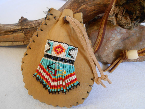Custom Order Medicine Bag Traditional Handmade Hand Beaded.