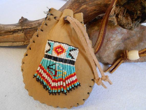Custom Order Medicine Bag Traditional Handmade Hand Beaded.