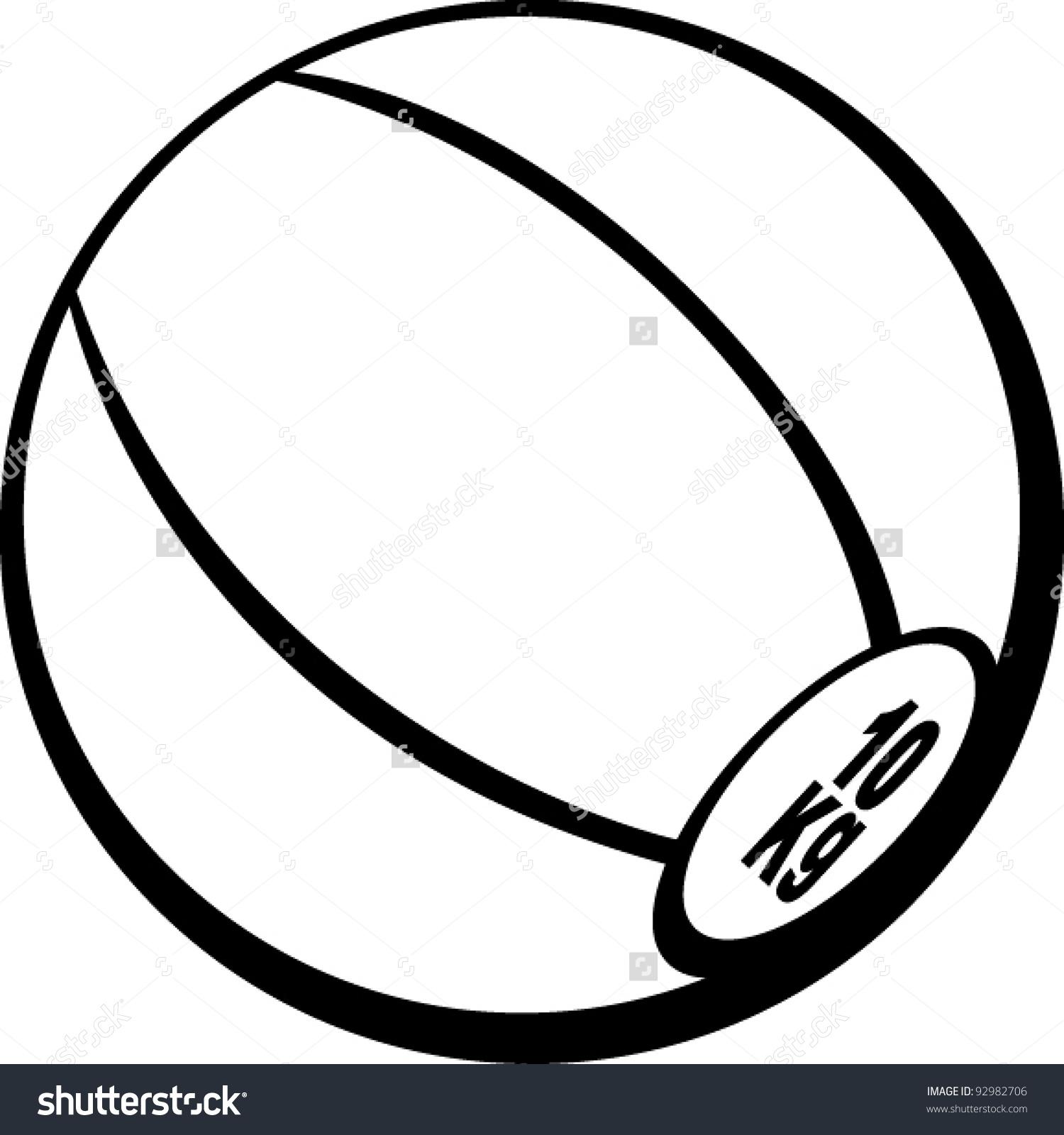 Medicine Ball Stock Vector 92982706.
