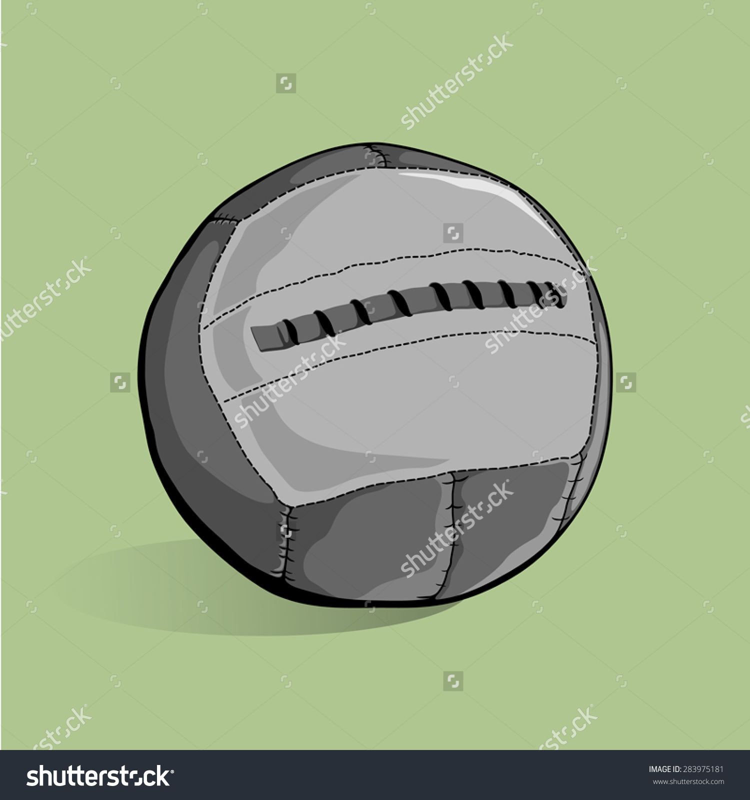 Training Workout Medicine Ball Stock Vector 283975181.