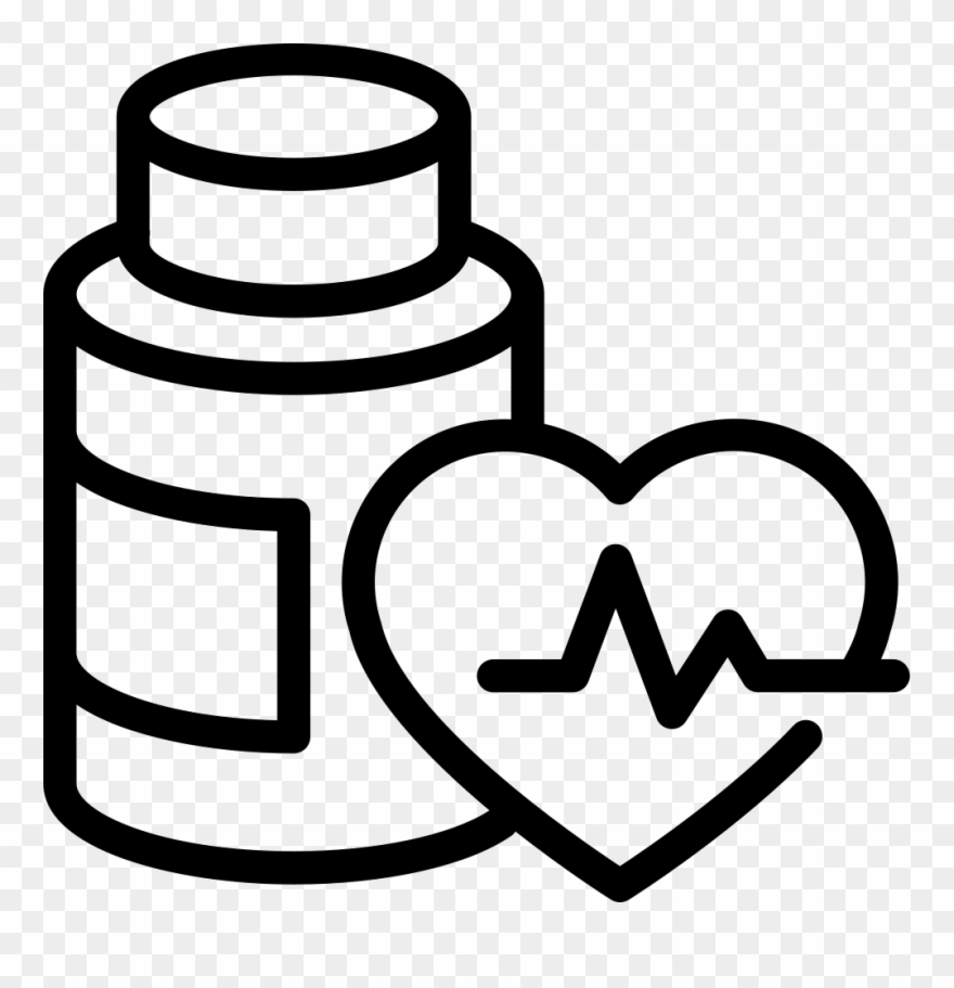 Medication Bottle Png Clip Art Black And White Library.