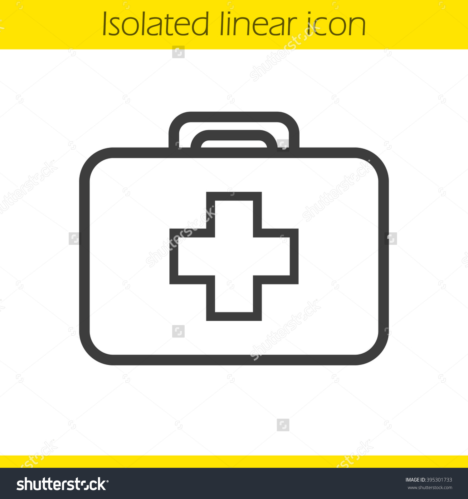Medicine Chest Linear Icon First Aid Stock Vector 395301733.