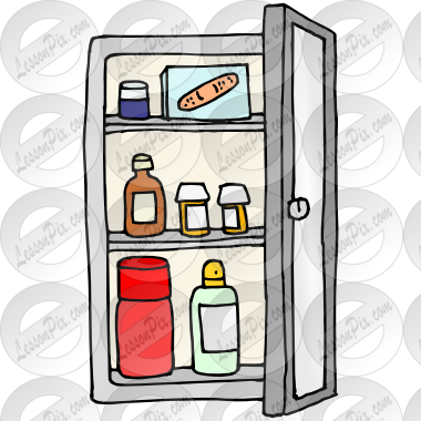 Medicine Cabinet Picture for Classroom / Therapy Use.