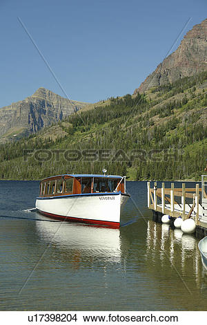 Stock Photo of Glacier National Park, MT, Montana, Rocky Mountains.