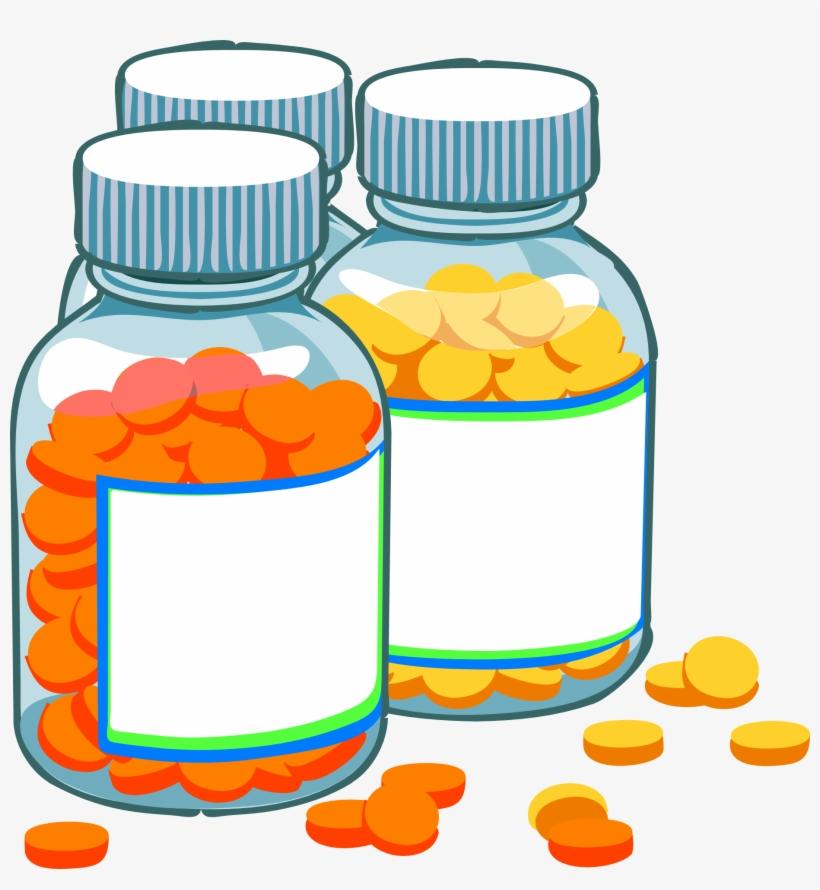 Blank Medicine Bottles Clip Art At Clker Com Vector.
