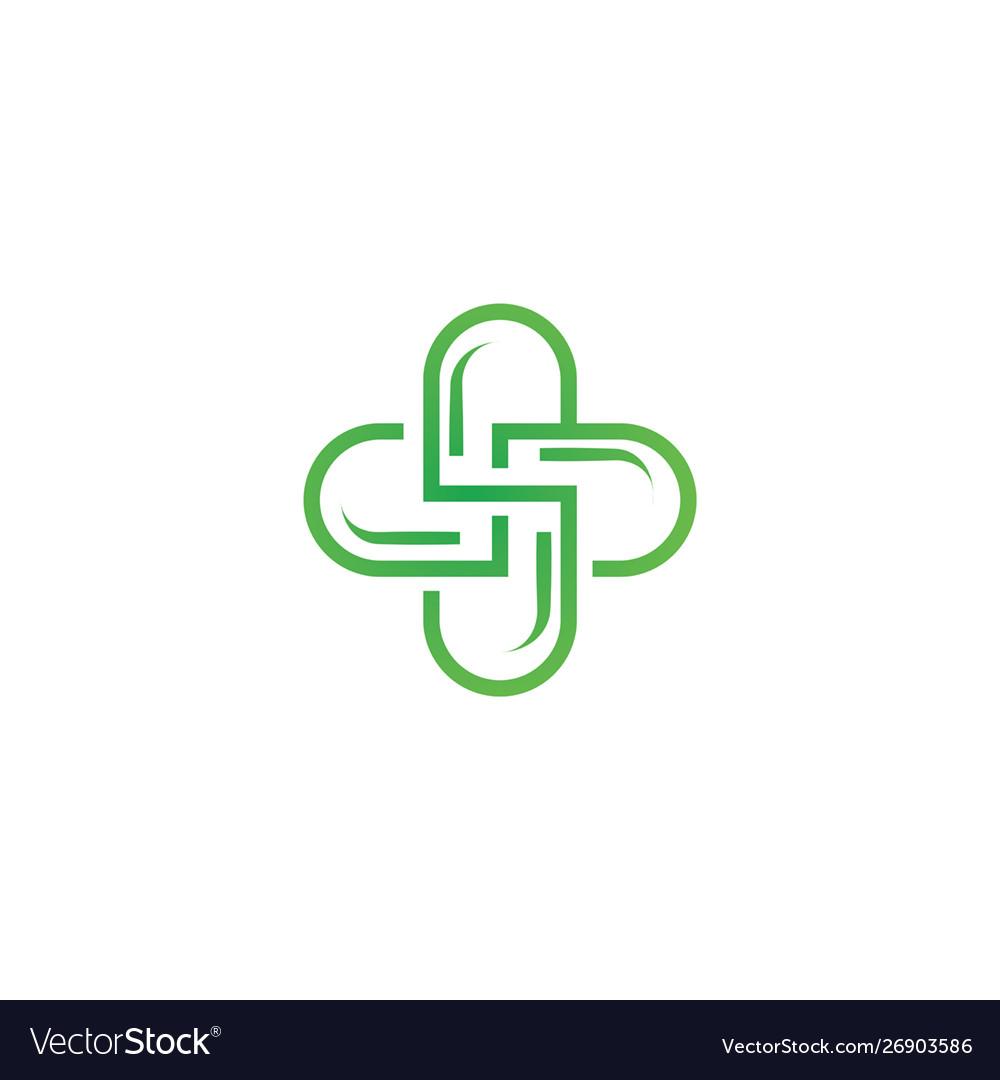 Health care pharmacy logo.