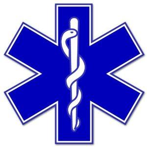 Star of Life medical EMS EMT paramedic medics sticker.