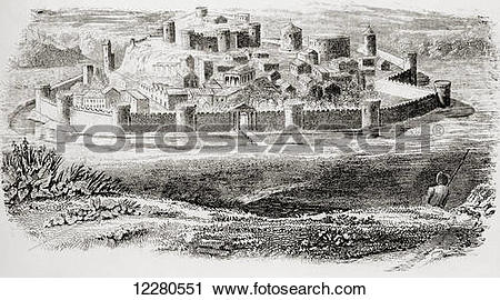 Stock Photography of General appearance of ancient fortresses and.