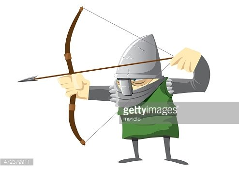 Medieval Archer Clipart Image.