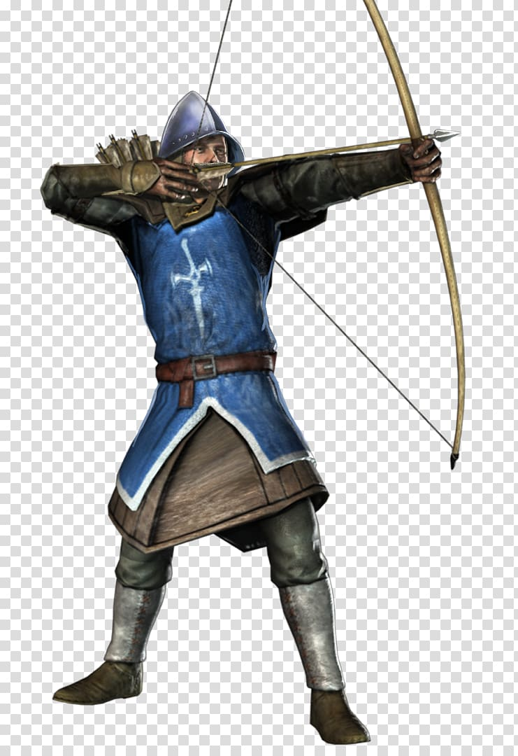 Squire using bow digital painting, Chivalry: Medieval.