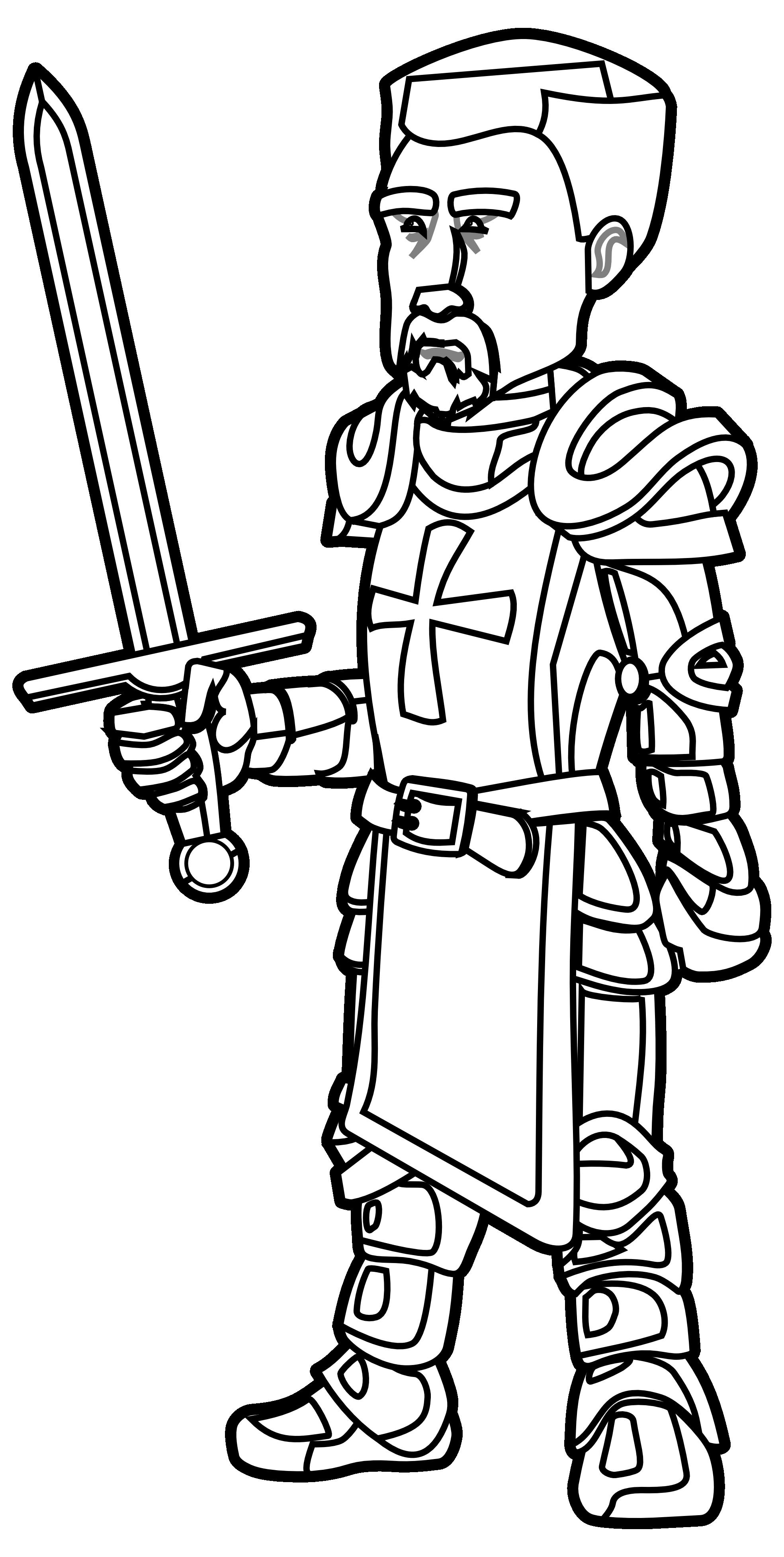 Medieval Black Knight Clipart.