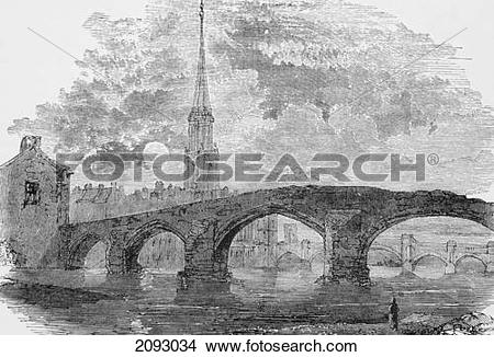 Stock Photo of The Auld Brig O' Doon (The Old Bridge Over The.