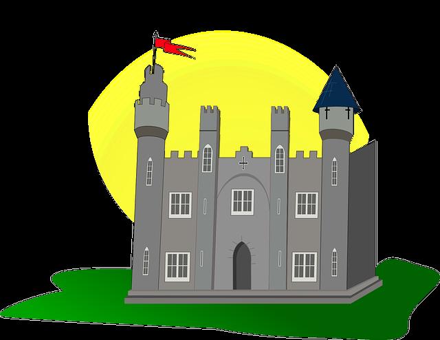 Free Medieval Castle Clip Art.
