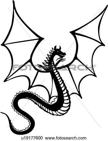 Clipart of , armor, dragon, medieval, weapon, weapons, u19177600.