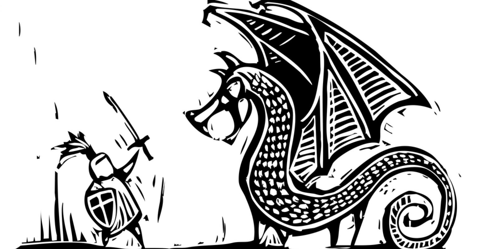 Medieval Dragon Clipart Black And White.