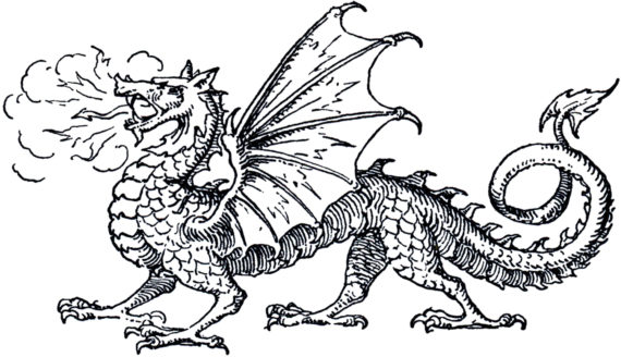 Free Clip art of Dragon Clipart Black and White #4307 Best.