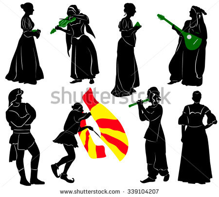 Medieval Costume Stock Images, Royalty.