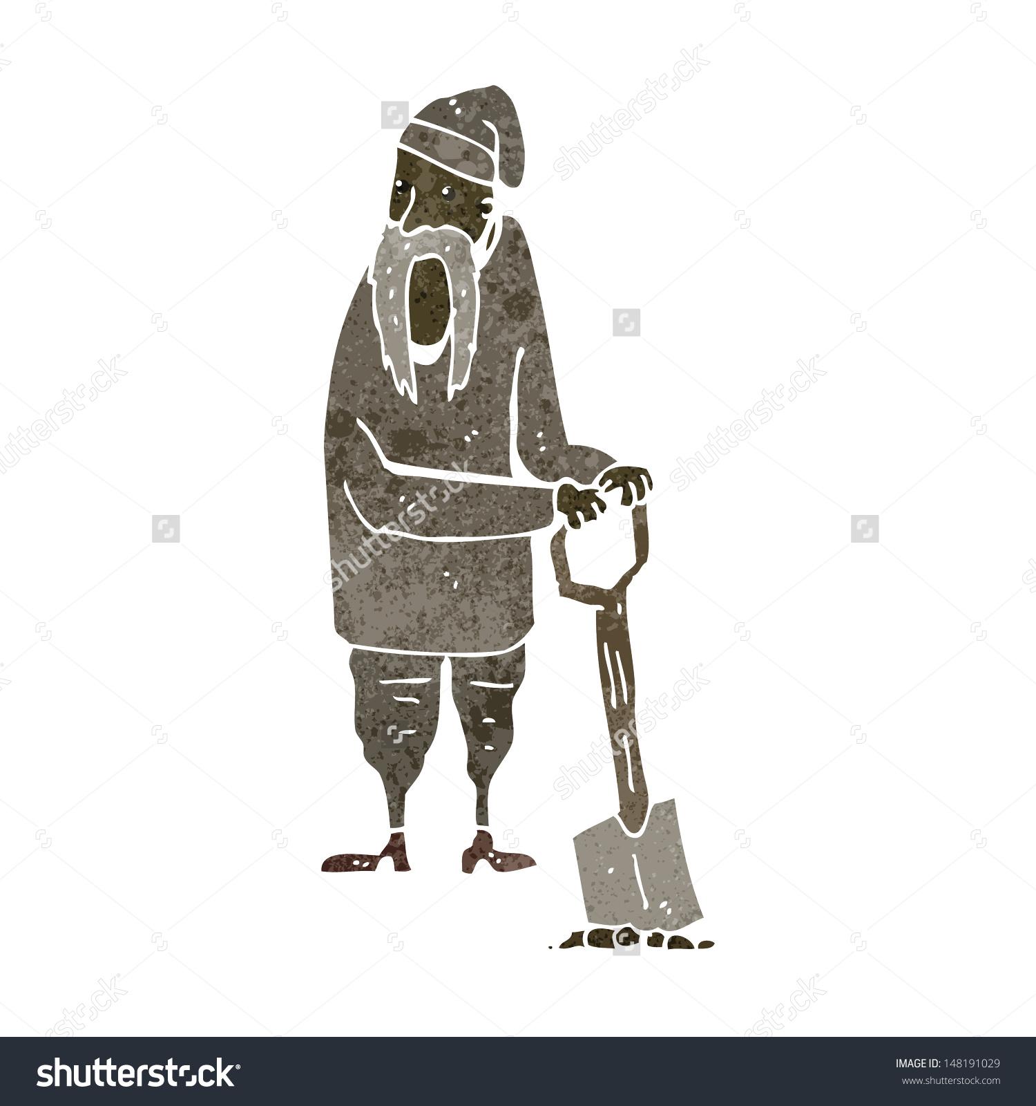 Retro Cartoon Medieval Peasant Stock Vector 148191029.