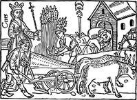 Medieval Trumpet Vector.