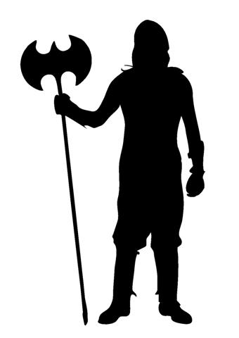 Medieval Silhouette 6 Decal Sticker.