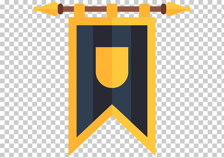 Middle Ages Flag Symbol , medieval PNG clipart.