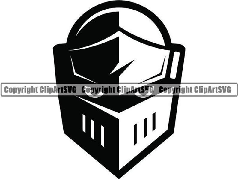Knight #2b Swords medieval Helmet Armour Warrior Shield Metal Battle  Soldier School Mascot Logo .SVG .PNG Clipart Vector Cricut Cut Cutting.