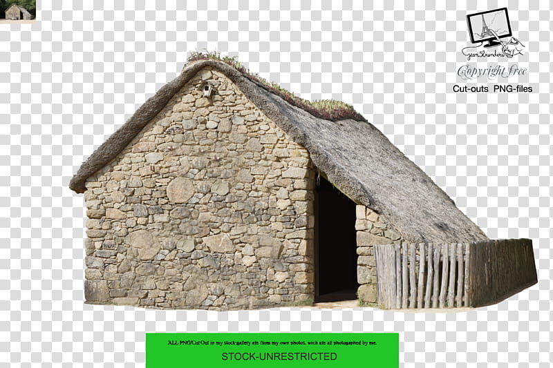 Medieval house , beige concrete house transparent background.