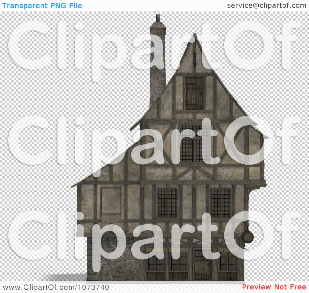 Clipart 3d Large Medieval House 17.