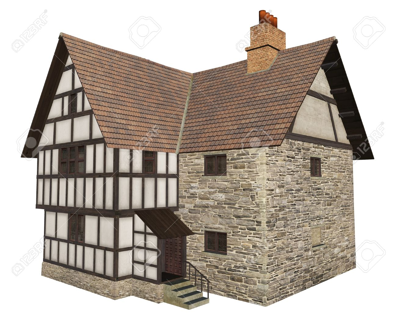 Medieval Manor Clipart.