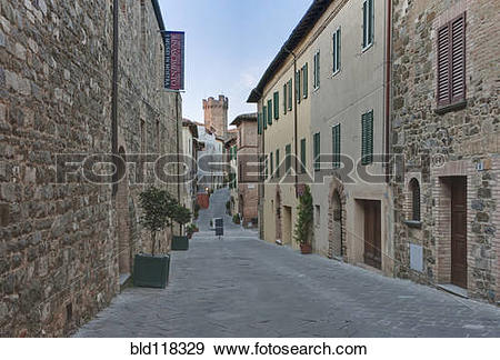 Stock Photograph of Medieval Street bld118329.