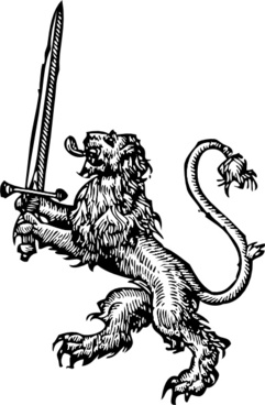 Medieval lion vector free vector download (847 Free vector.