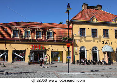 Stock Images of Finland, Region of Satakunta, Rauma, Old Rauma.