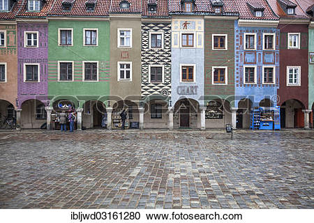 """Stock Photography of """"16th century medieval merchants' houses."""