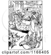 Clipart Vintage Black And White Wedding Ceremony Sign With Hands.