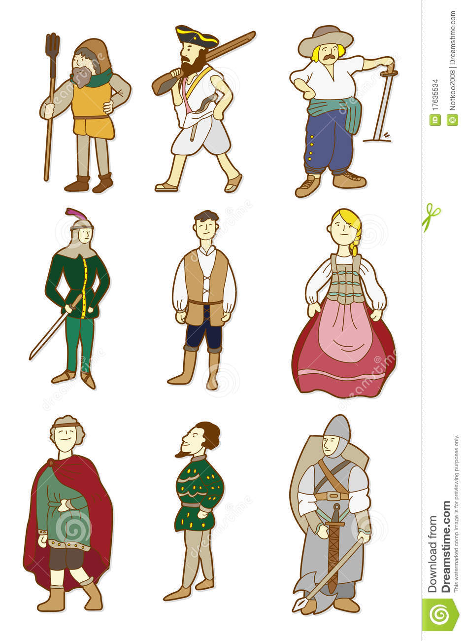 Medieval People Clipart.