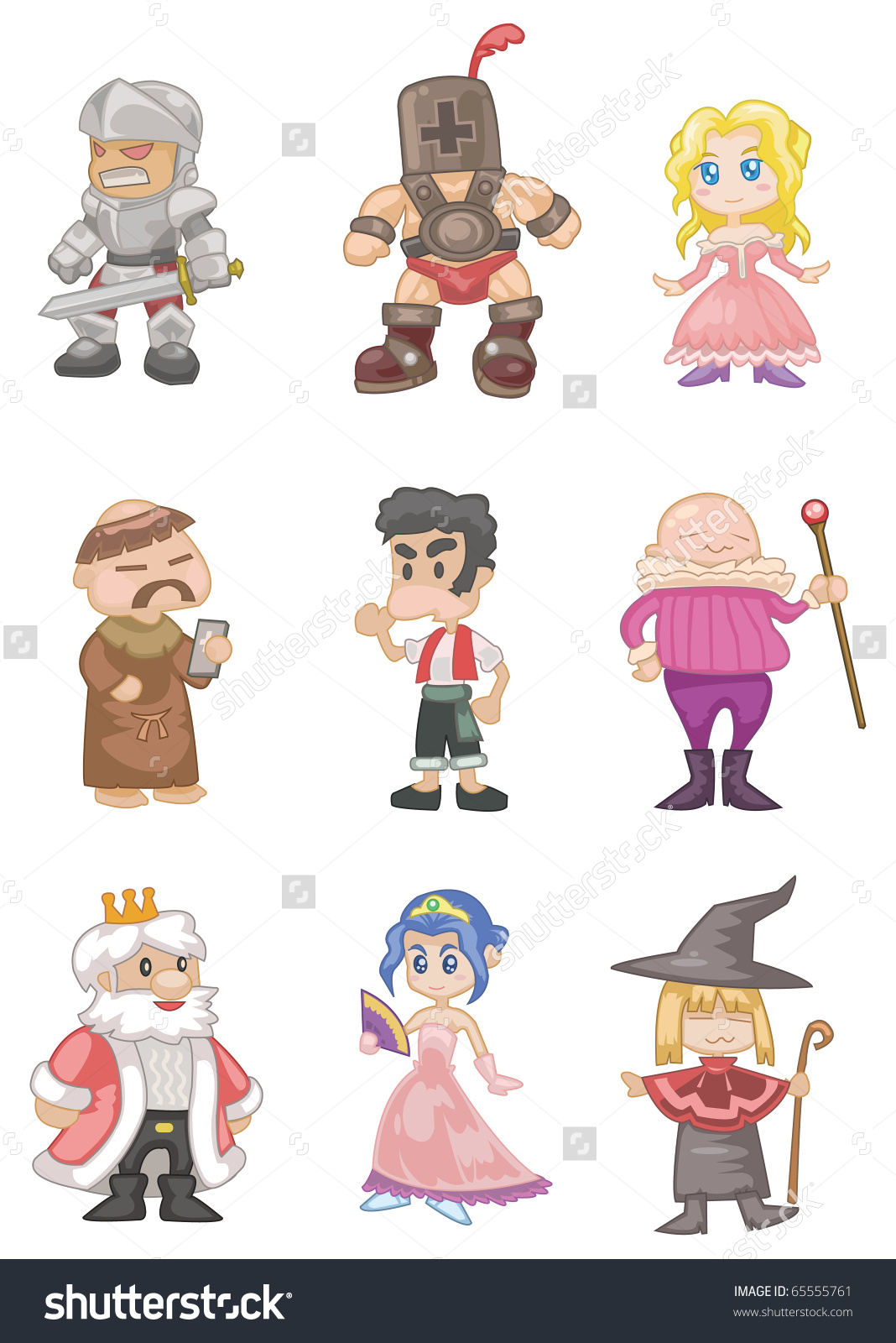 Clipart Medieval People.