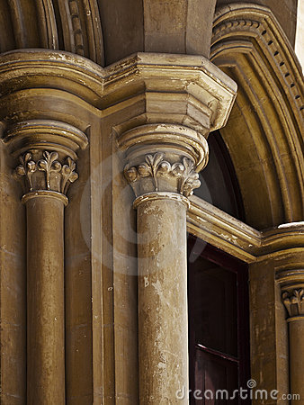 Gothic Pillars Royalty Free Stock Photography.