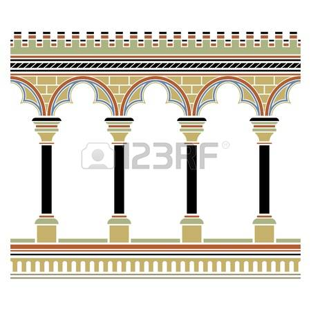 1,389 Pillars Black White Stock Vector Illustration And Royalty.