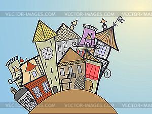 medieval town.