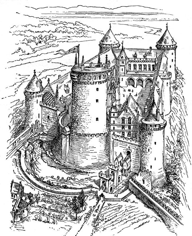 Medieval Castles Clipart.