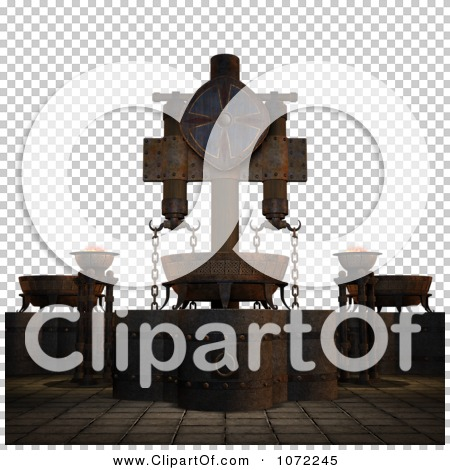 Clipart 3d Medieval Ceremonial Scene.