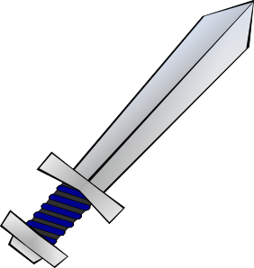 Middle ages sword clipart.