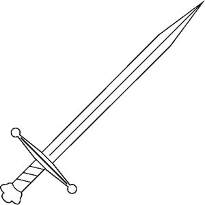 Medieval Sword Clipart.