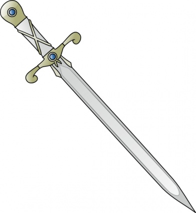 Medieval swords clipart.