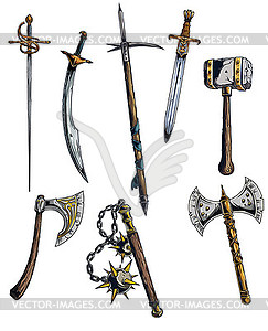 Designious vector medieval weapons.