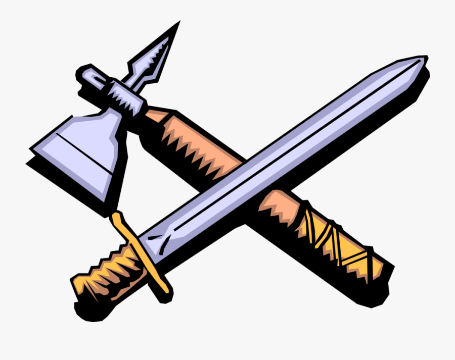Vector Illustration Of Middle Ages Medieval Sword And.