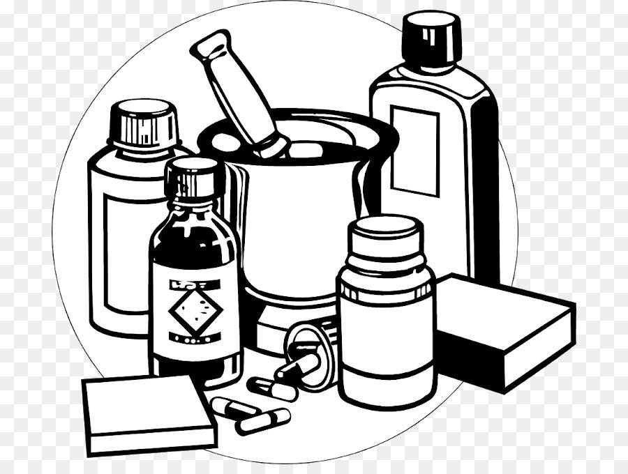 Medizin Pharmazeutische Drogen, Schwarz Clip.