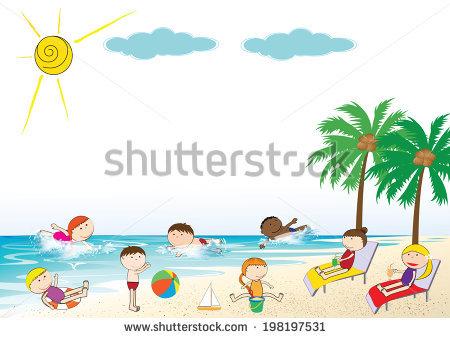 Beach Scene Vector Stock Vector 3114133.